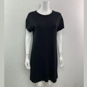 LOFT Scoop Neck Black Shift Dress